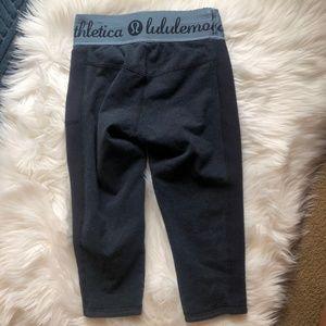 lululemon athletica Pants - Lululemon Inner Essence Crop Heathered Naval Blue